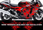 Flame Decal Kit Suzuki Yamaha Kawasaki Metric Bike FLM806