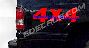 ACC350 Two Color 4x4 Decal