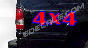 ACC351 Two Color 4x4 Decal
