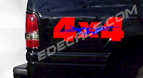 ACC352 Two Color 4x4 Decal