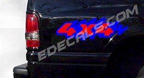 ACC353 Two Color 4x4 Decal