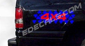 ACC354 Two Color 4x4 Decal