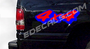 ACC355 Two Color 4x4 Decal