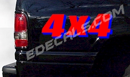 ACC362 Two Color 4x4 Decal