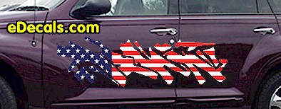 ACC901 USA Striped Accent Decal