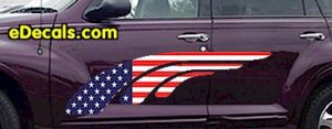 ACC902 USA Striped Accent Decal