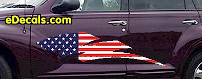 ACC904 USA Striped Accent Decal