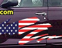 ACC905 USA Striped Accent Decal
