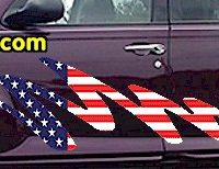 ACC906 USA Striped Accent Decal