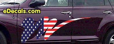 ACC907 USA Striped Accent Decal