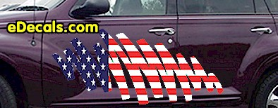 ACC908 USA Striped Accent Decal