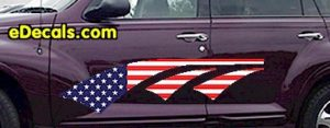 ACC909 USA Striped Accent Decal