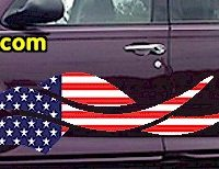 ACC910 USA Striped Accent Decal