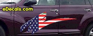 ACC911 USA Striped Accent Decal