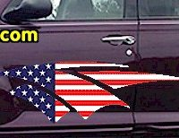 ACC912 USA Striped Accent Decal