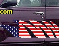 ACC913 USA Striped Accent Decal
