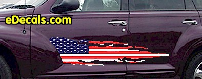 ACC915 USA Striped Accent Decal