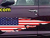 ACC916 USA Striped Accent Decal
