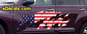 ACC919 USA Striped Accent Decal