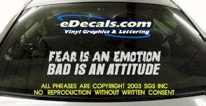 BMP101 Fear Is An Emotion Bumper Sticker Decal