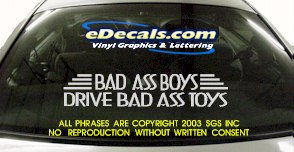 BMP102 Bad Ass Boys Bumper Sticker Decal