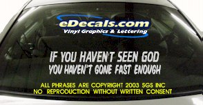 BMP104 If You Havent Seen God Bumper Sticker Decal