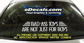 BMP105 Bad Ass Toys Bumper Sticker Decal