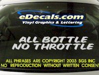 BMP115 All Bottle Bumper Sticker Decal