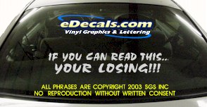 BMP128 Your Losing Bumper Sticker Decal