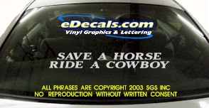 BMP136 Save A Horse Cowboy Bumper Sticker Decal