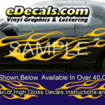 BSA101 Flameout Full Body Accent Graphic Decal Kit