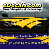 BSA105 Slingshot Full Body Accent Graphic Decal Kit