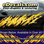 BSA106 Shredder Full Body Accent Graphic Decal Kit