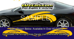 BSA107 Wave Full Body Accent Graphic Decal Kit