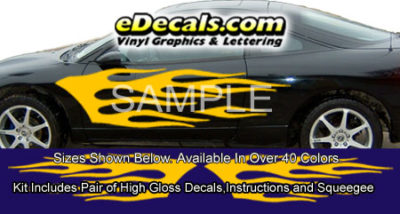BSA110 Flame Full Body Accent Graphic Decal Kit