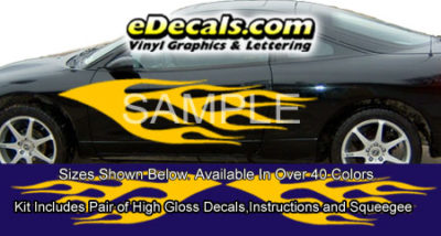 BSA111 Flame Full Body Accent Graphic Decal Kit