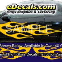 BSA113 Flame Full Body Accent Graphic Decal Kit