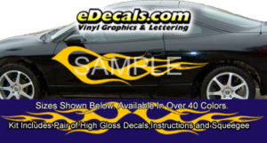 BSA114 Flame Full Body Accent Graphic Decal Kit