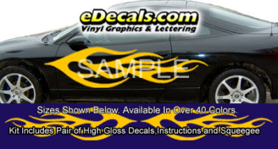 BSA115 Flame Full Body Accent Graphic Decal Kit