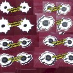 BUL109 Complete Pack 1 Bullet Hole Decals