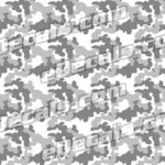 CAM205 Camoflage Printed Vinyl Material - Urban Snow