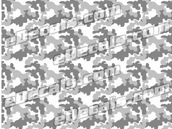 CAM205 Camoflage Printed Vinyl Material – Urban Snow