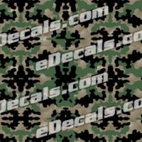 CAM207 Camoflage Printed Vinyl Material - Crossfire Pattern
