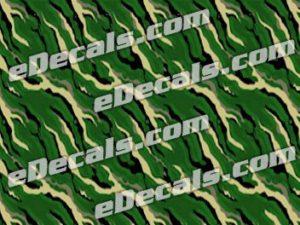 CAM209 Camoflage Printed Vinyl Material - Slashcut Green