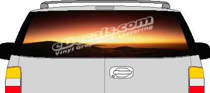Sunset Vision Rear Window Mural Decal CLR101