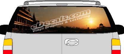 CLR103 Sunset II Vision Rear Window Mural Decal