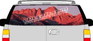 CLR104 Mountains Vision Rear Window Mural Decal