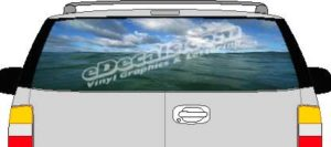 CLR105 Ocean Vision Rear Window Mural Decal