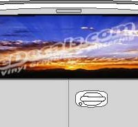 CLR107 Cloudy Sky Vision Rear Window Mural Decal