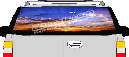 CLR107 Cloudy Sky Vision Rear Window Mural Decal